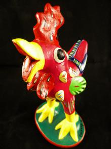 Talavera Rooster made from Geraldo Ortega famous Jalisco artist