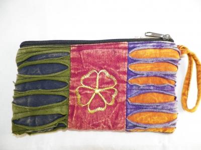 Hippie Clutch Bag with Flower