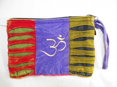 Hippie Clutch bag with Ohm Sign in Fun Colors