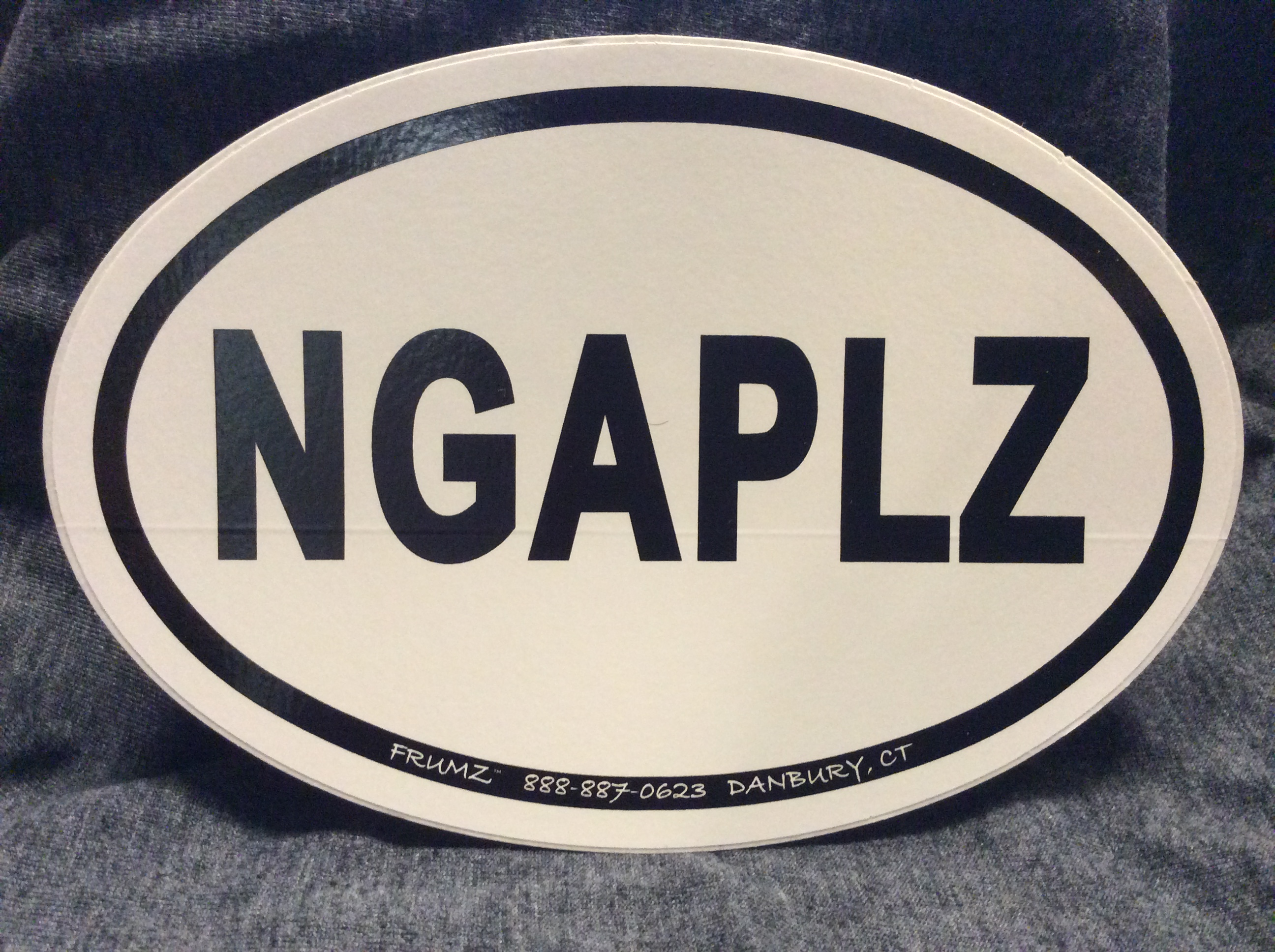 NGAPLZ oval sticker decal