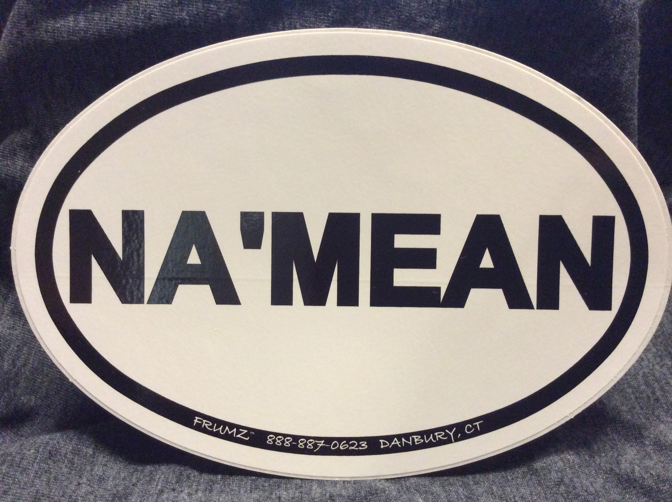 NA'MEAN oval sticker decal