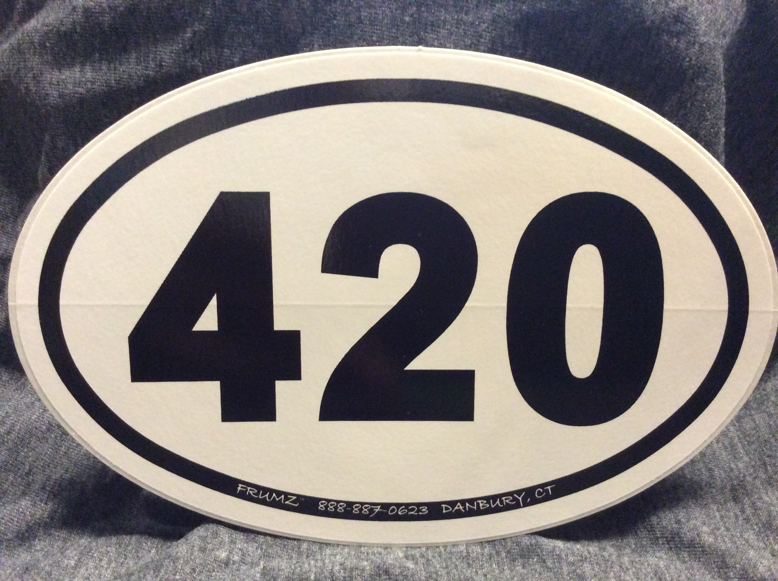 420  oval sticker decal