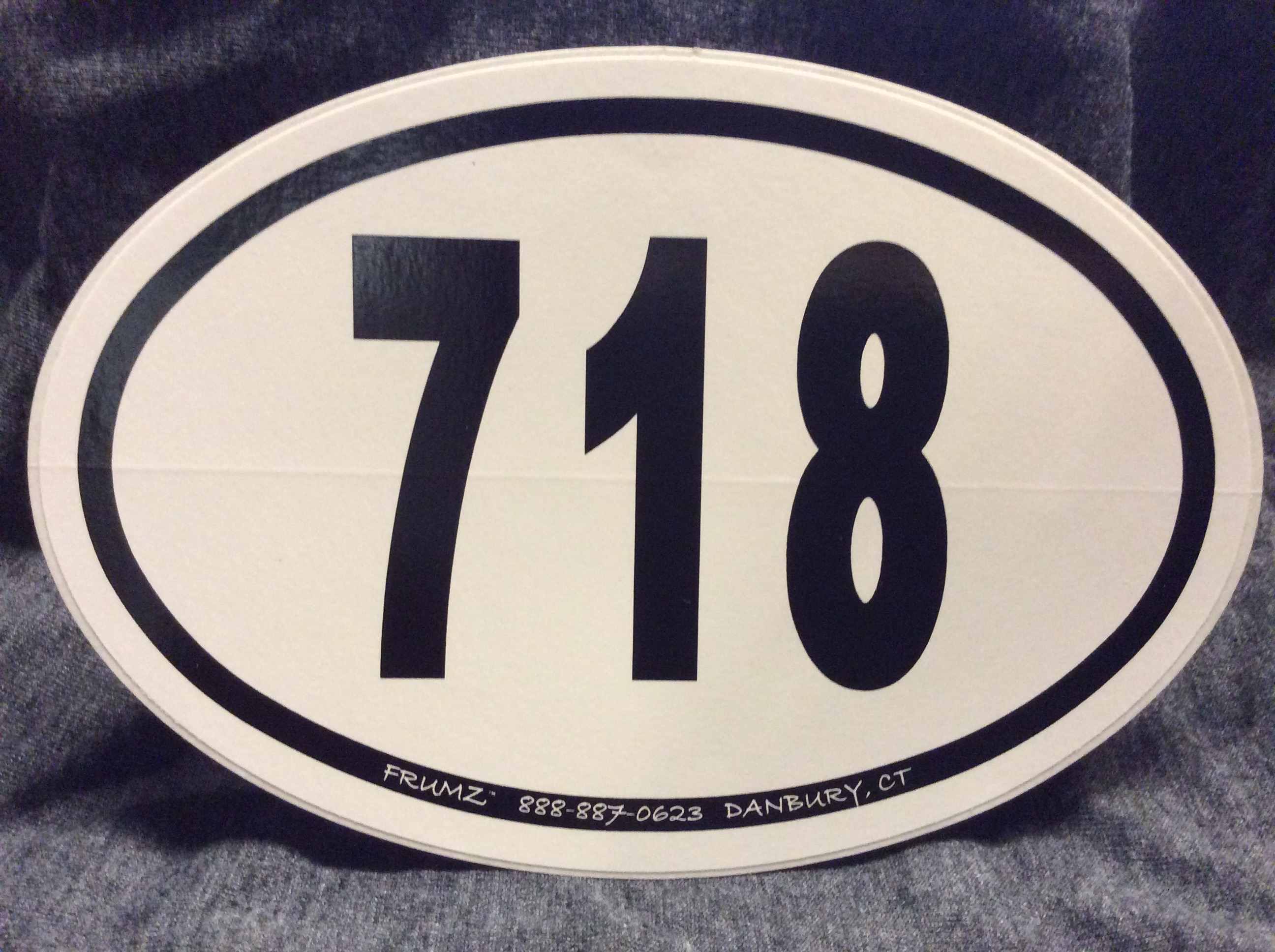 718  oval sticker decal