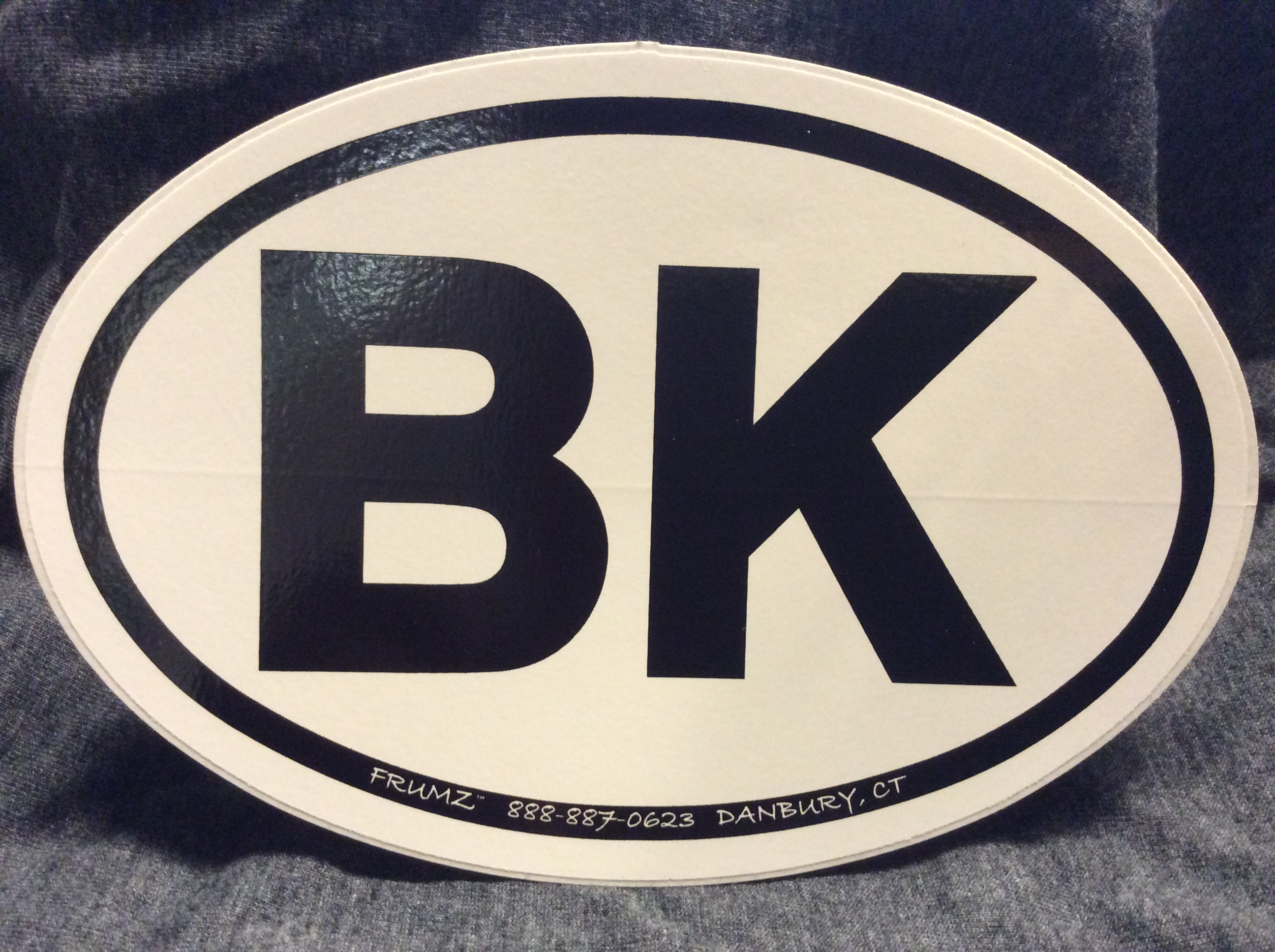 BK  oval sticker decal