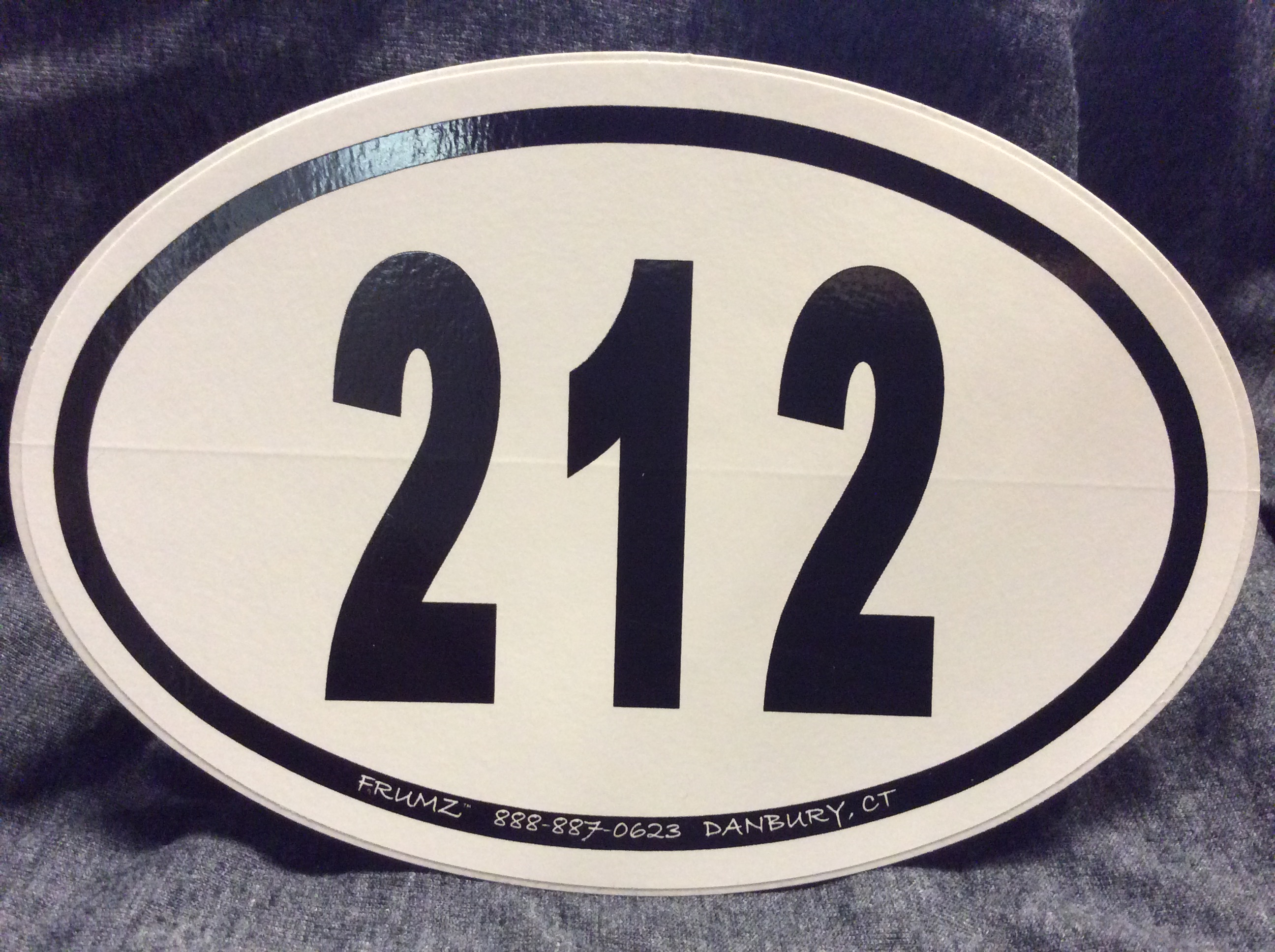 212  oval sticker decal