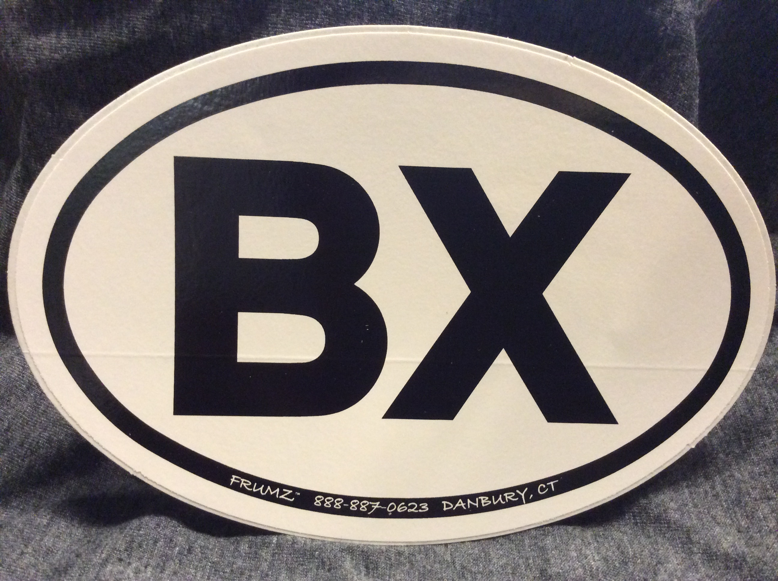 BX oval sticker decal