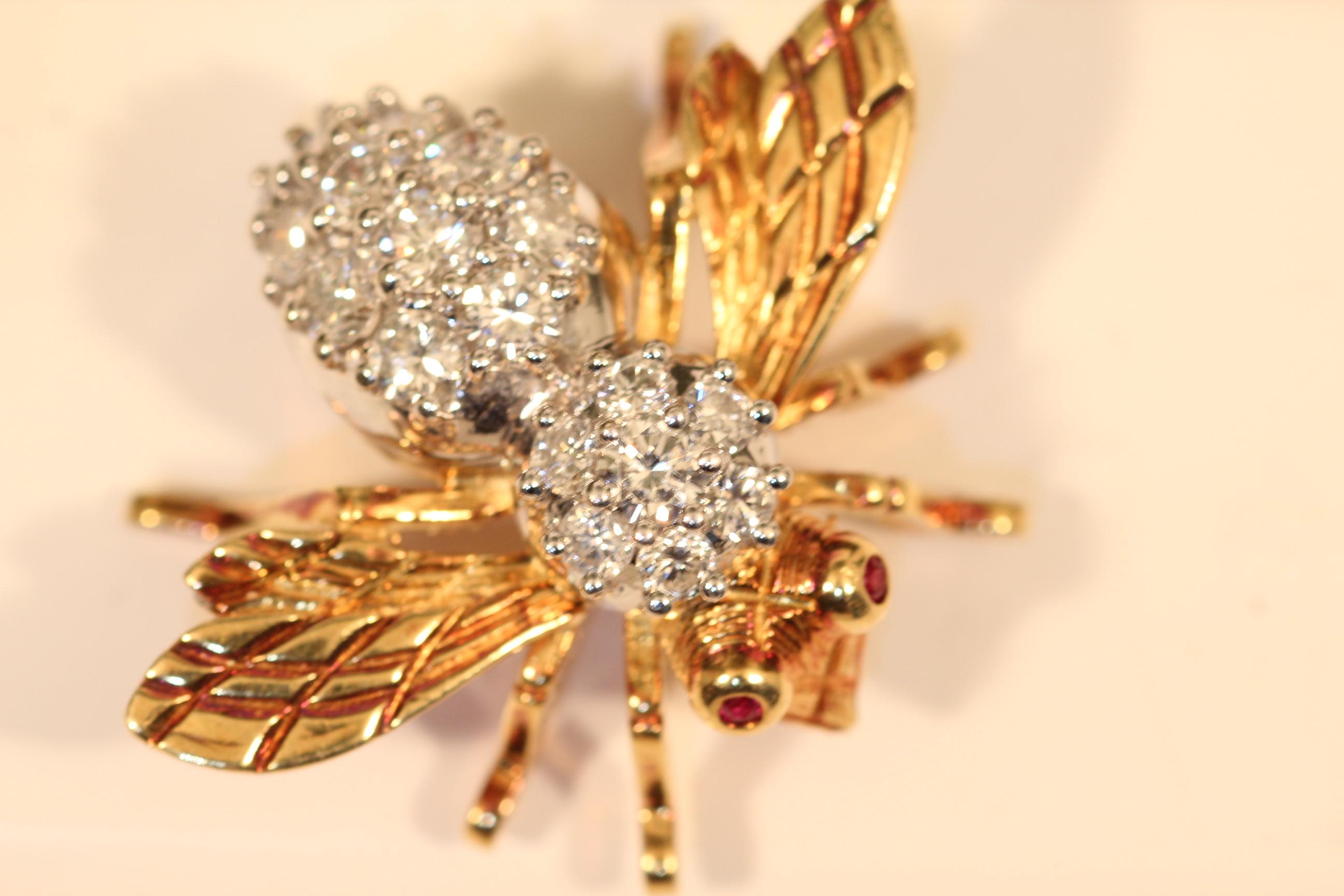 Rosenthal 18K YG & Diamond Bee