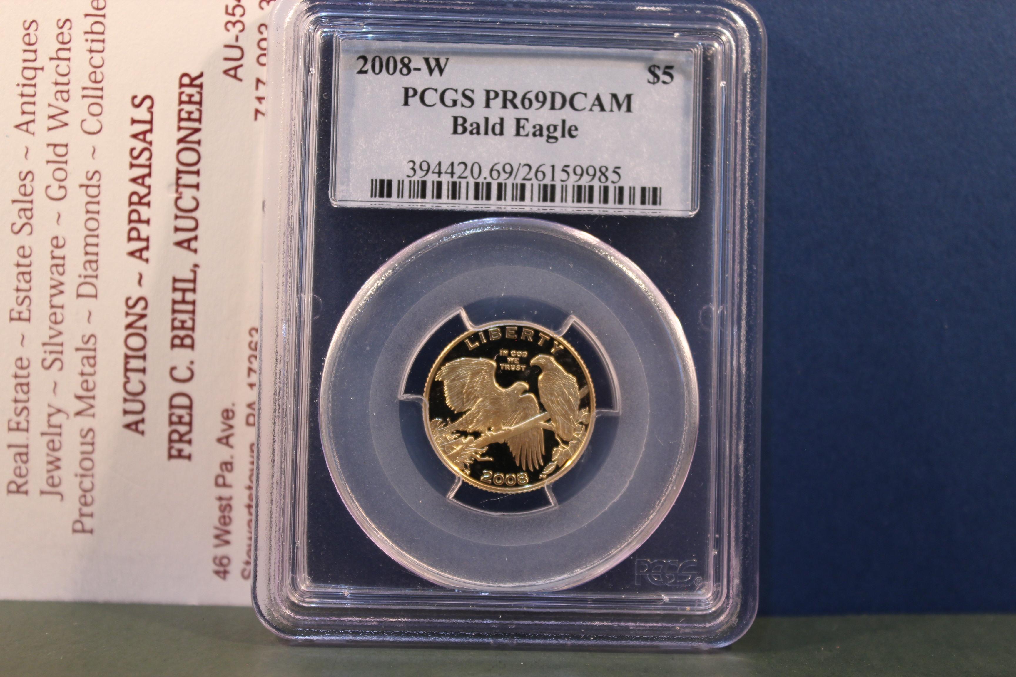 2008-W Bald Eagle $5 Gold