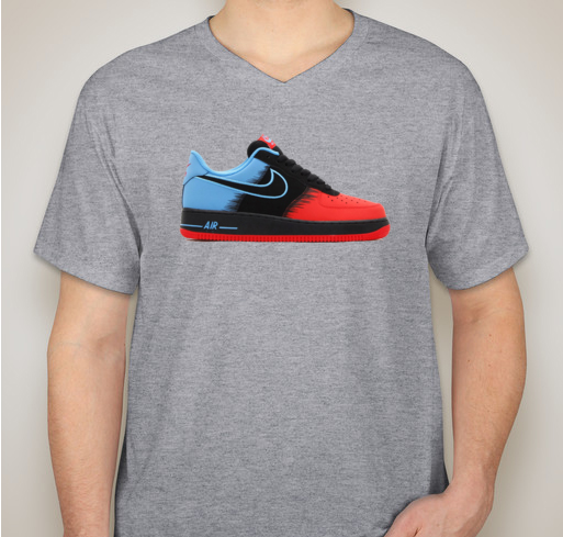 Nike Shoe - Blue/Red AF1
