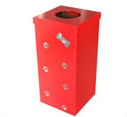 Custom Dog Bone Trash Receptacle
