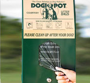 Aluminum Dogipot Junior Bag Dispenser (Single Pull)