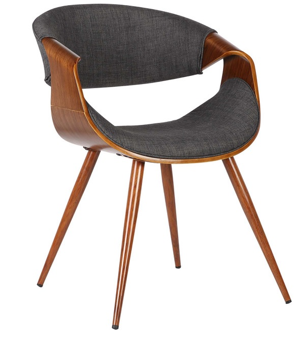 Remi Mid Century Chair - Charcoal