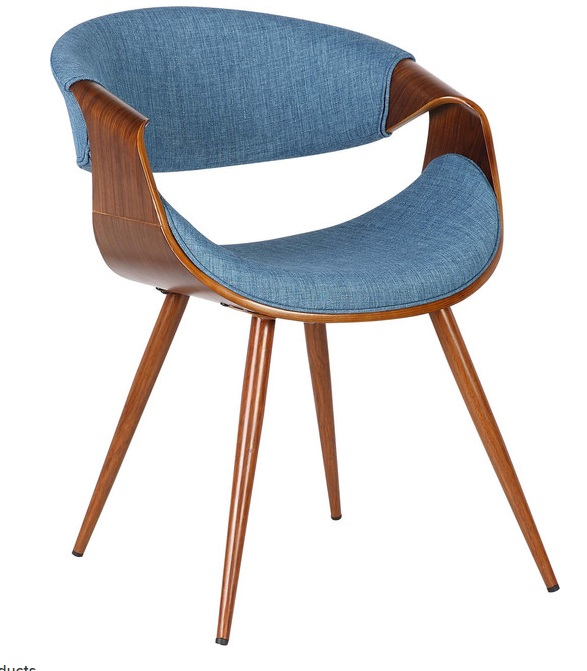 Remi Mid-Century Chair - Blue