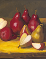 Red Hot Pears/Oil Painting     $180