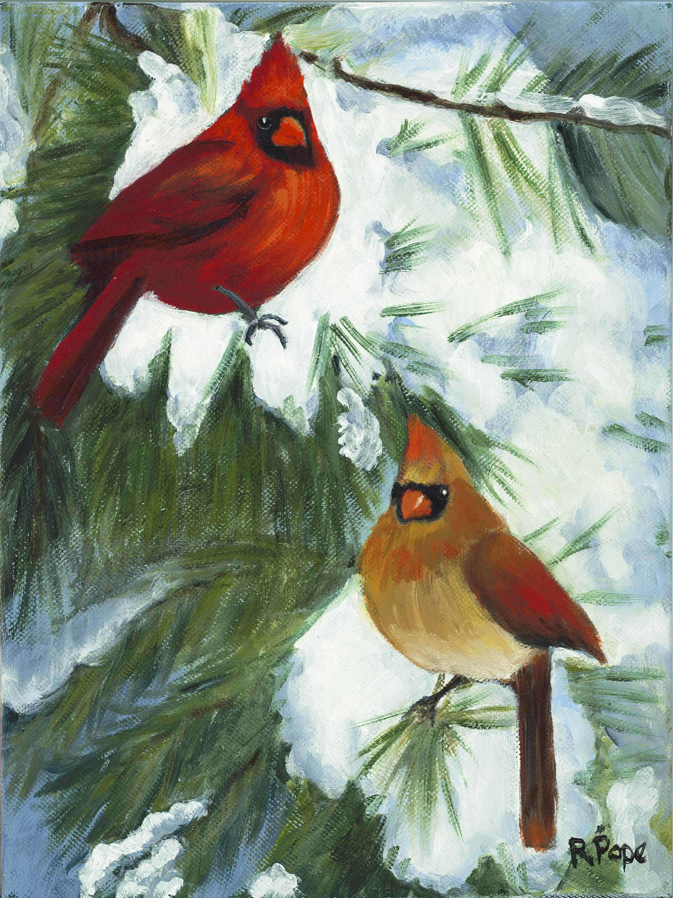 Christmas Cardinals/Original Oil    $135