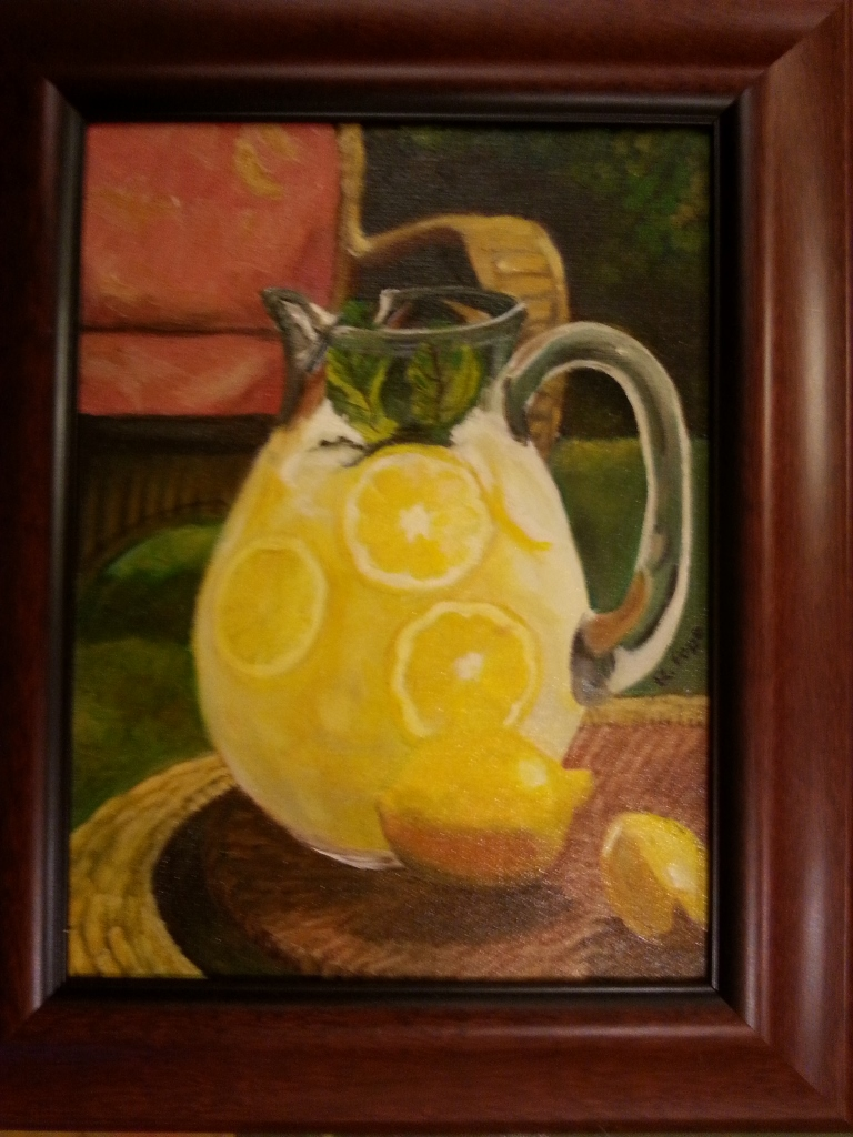 Summer Lemonade/Oil on Canvas  9x12      $130