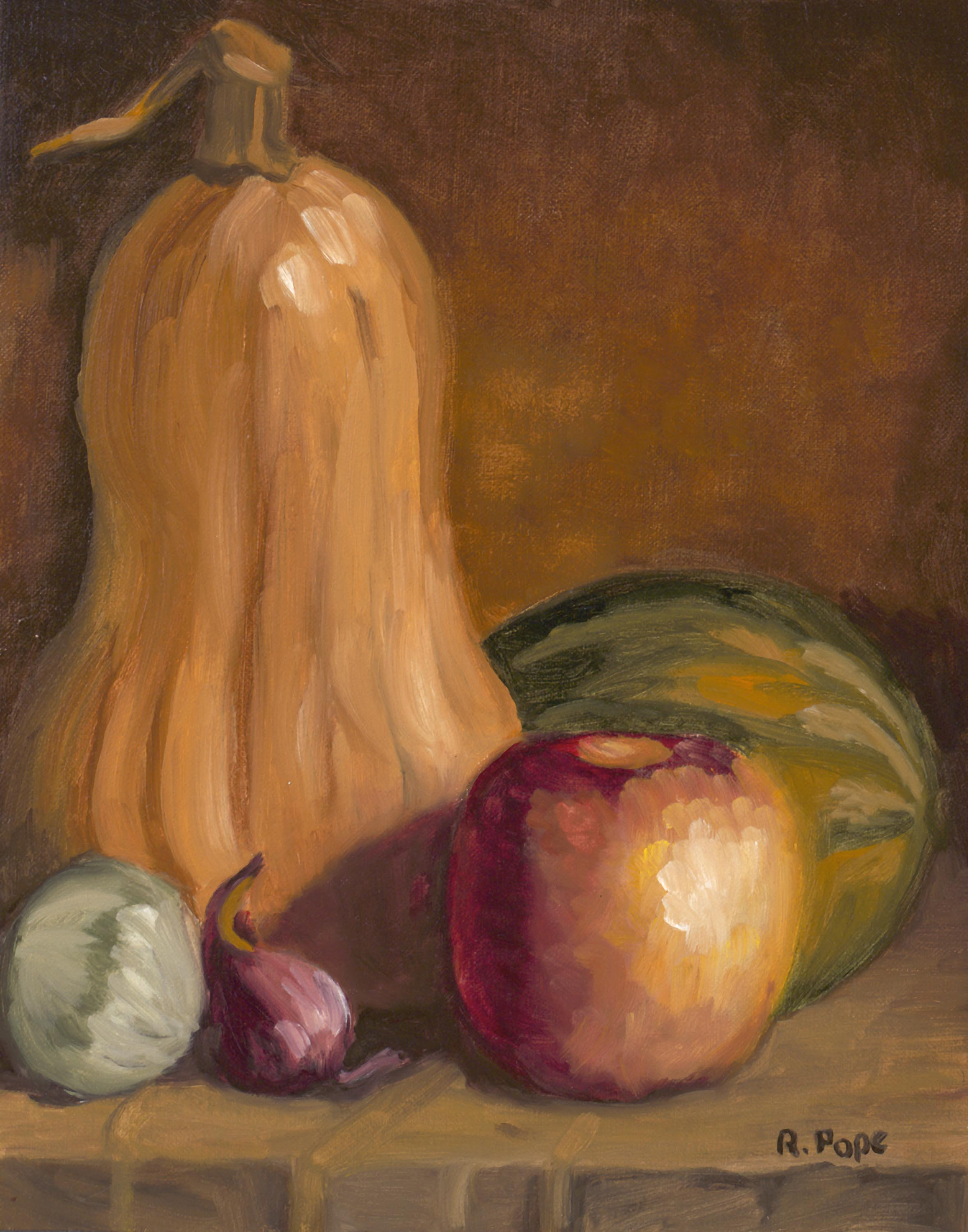 Fall Harvest/Oil Painting          $145