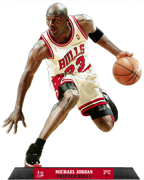 Michael Jordan Basketball Sports (example Of A Customer Request) Vinyl  Glossy Laminate Wall Decal Part 75