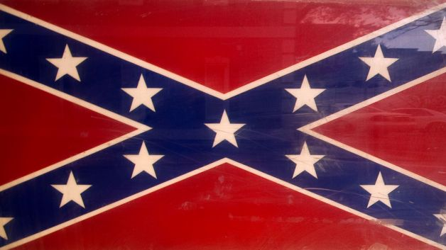 Confederate Flag (example of a customer request) Vinyl Glossy Laminate Wall Decal
