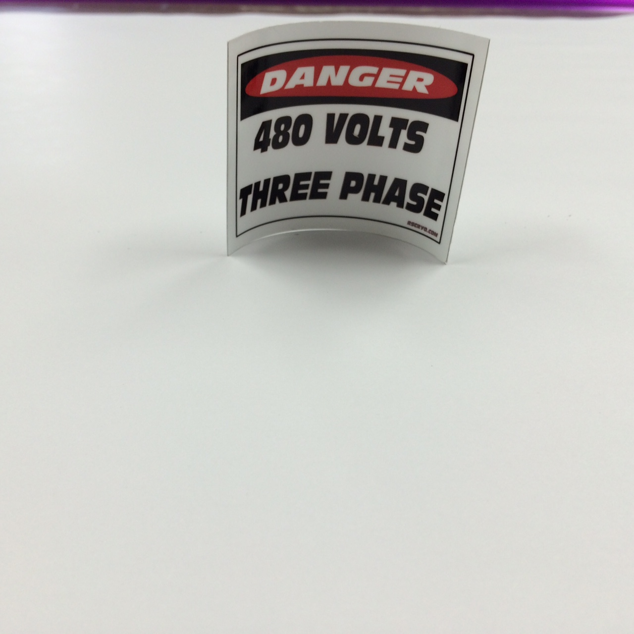 480 volt decal