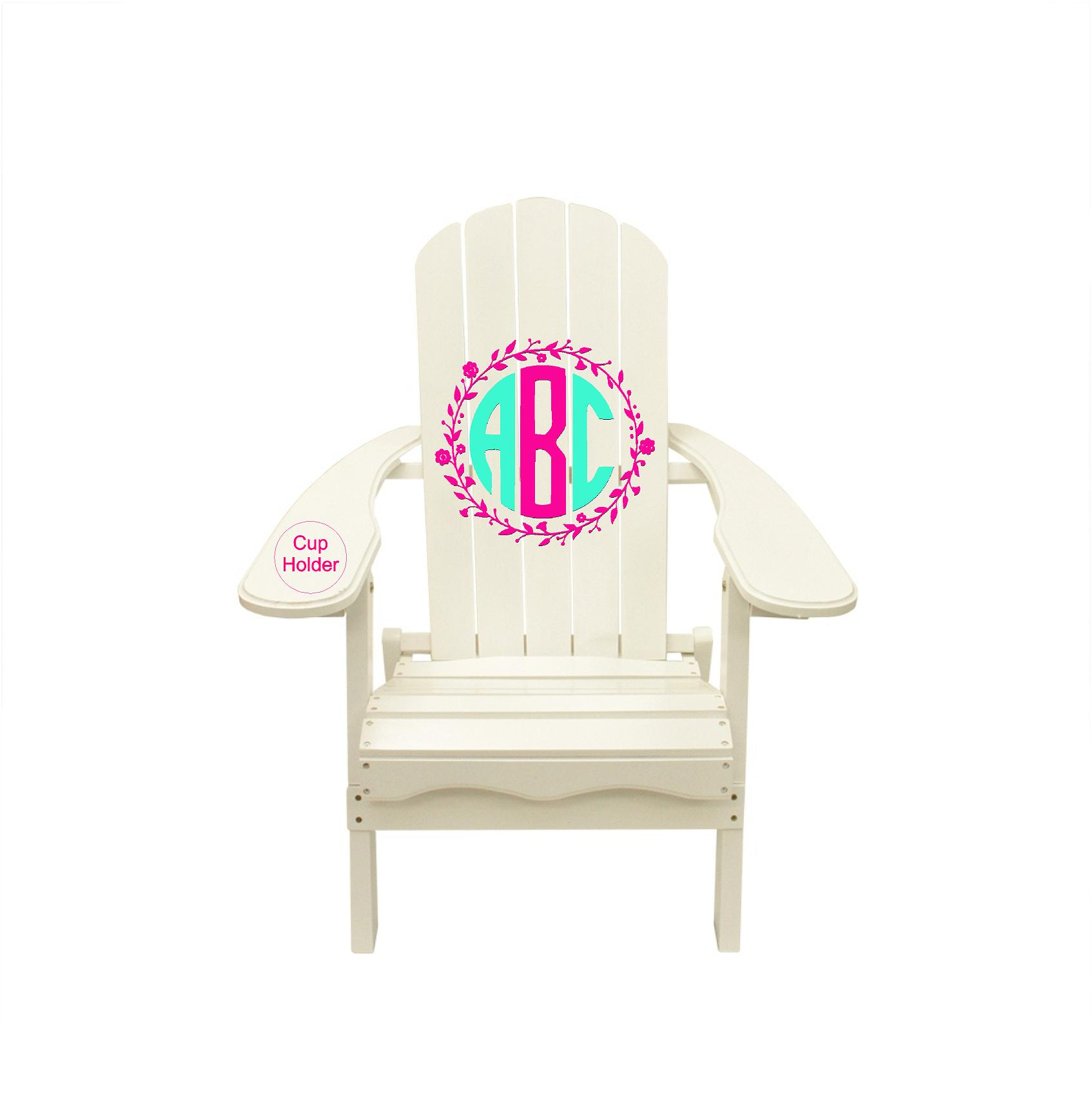 Monogram ABC Graphic Decal Adirondack Chair