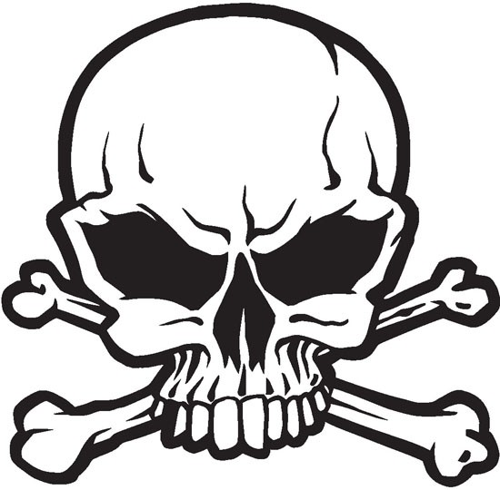 Skeleton Pirate Boat (example of a customer request) Vinyl Glossy Laminate Wall Decal