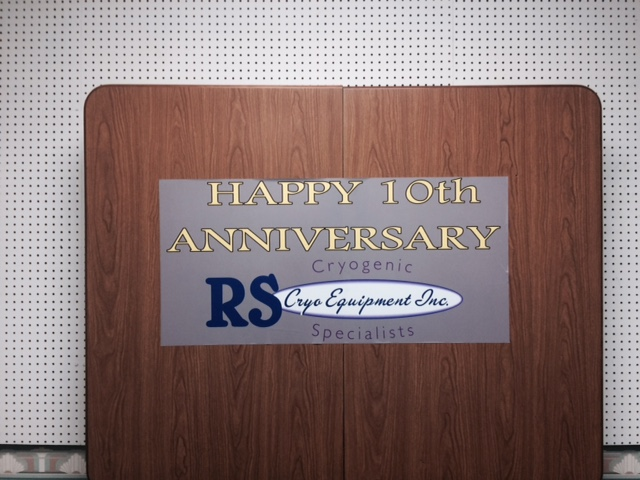 Rs Cryo Graphics Company Aniversary Glossy Laminated Decal