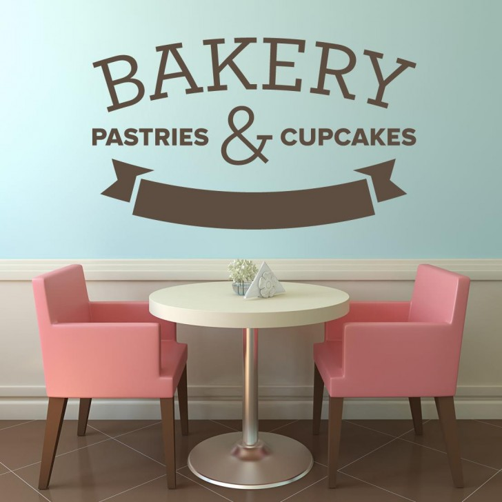 Bakery Business Create Your Own Vinyl Glossy Laminate Wall Decal