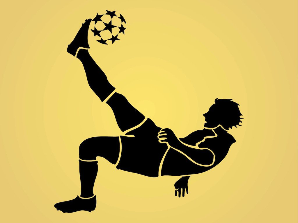 Soccer Sports Living Room Bedroom Decal Vinyl Glossy Laminate Wall Decal