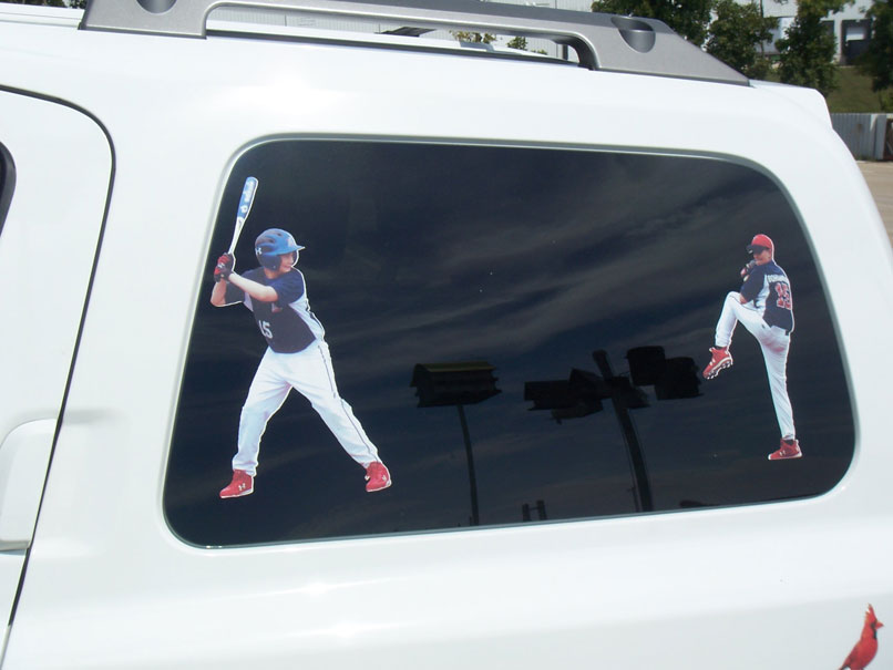 Little League High School College Baseball Vinyl Glossy Laminate Car Decal