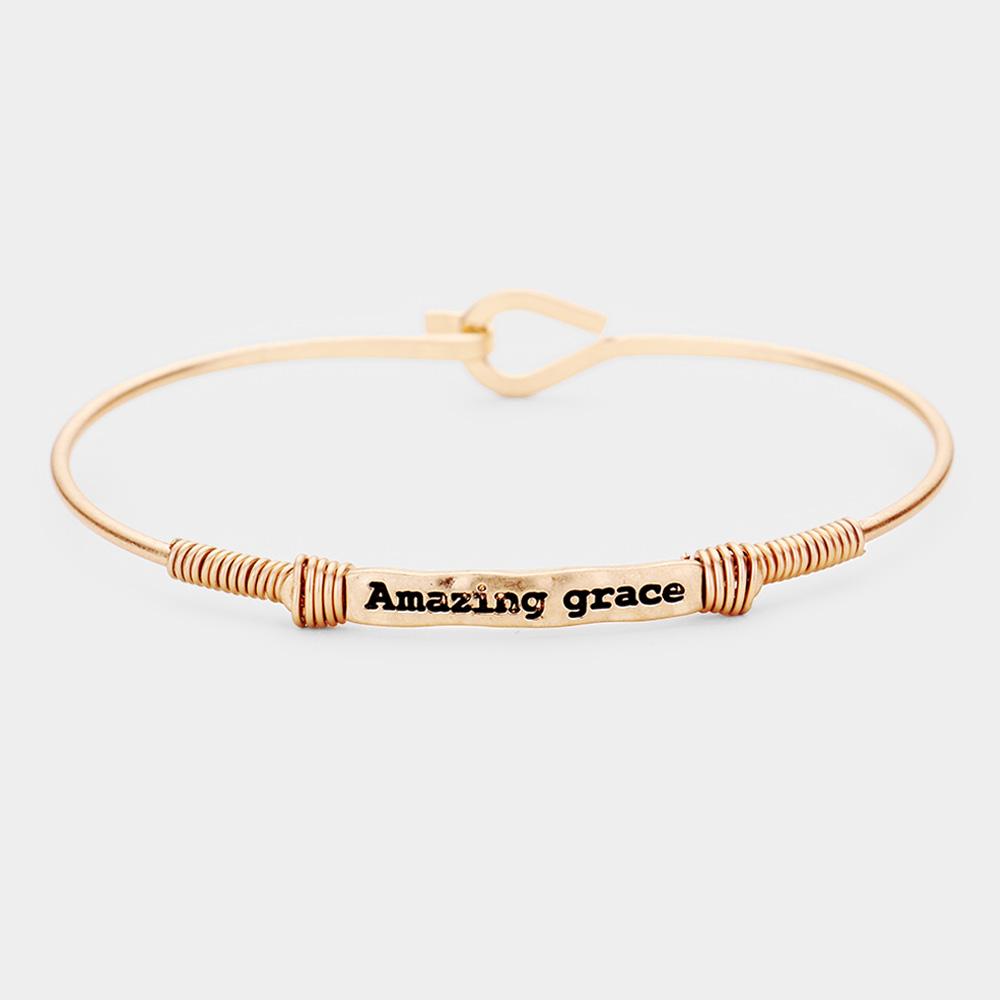 'Amazing Grace' Metal Wire Wrapped Hook Bracelet