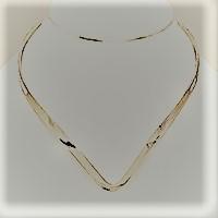 Silver V-Choker Cuff Necklace