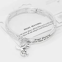 """Angel blessing"" angel charm stretch bracelet"