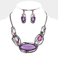 Hematite &  Necklace & Earring Set