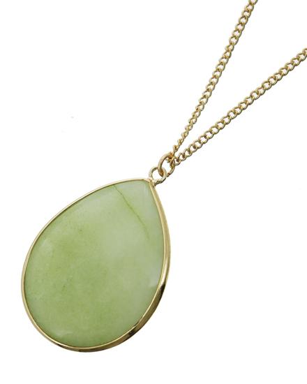 Myloveofjewelry pendants mint teardrop semi precious stone pendant necklace aloadofball Gallery