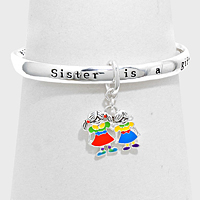"""Sister is a gift"" Message Bracelet"