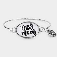 'Dog Mom' DogPaw Charm Hook Bracelet