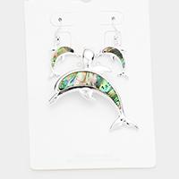 Abalone Dolphin Pendant Set