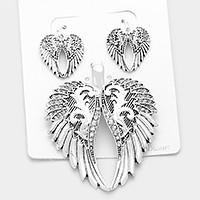 Vintage wings pendant set