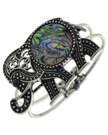 Elephant Antique Silver Tone Bracelet