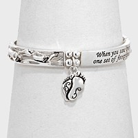 """OUT OF STOCK-Follow the footprints """" Stretch Religious Bracelet"""