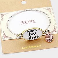 """Never Lose Hope"" Bird Charm Hook BraceletCharm Hook Bracelet"