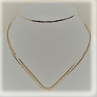 Silver Hammered metal open choker necklace