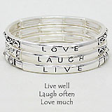 layered Live Well/ Laugh Often/ Love Much