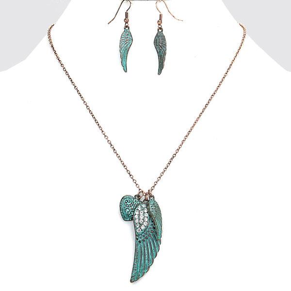 Vintage Angel Wings Necklace Angel & Wings, Peace