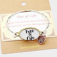"""Tree of Life"" Metal Charm  Hook Bracelet"