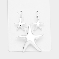 OUT OF STOCK-Silver Metal starfish pendant set