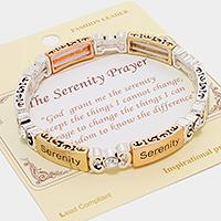 "Gold &Silver Gold &Silver Serenity Prayer Bracelet"""