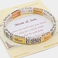 """Mom & Son"" Message  Stretchable Bracelet"