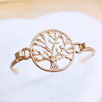 Worn Gold Tree of Life Metal Hook Bracelet